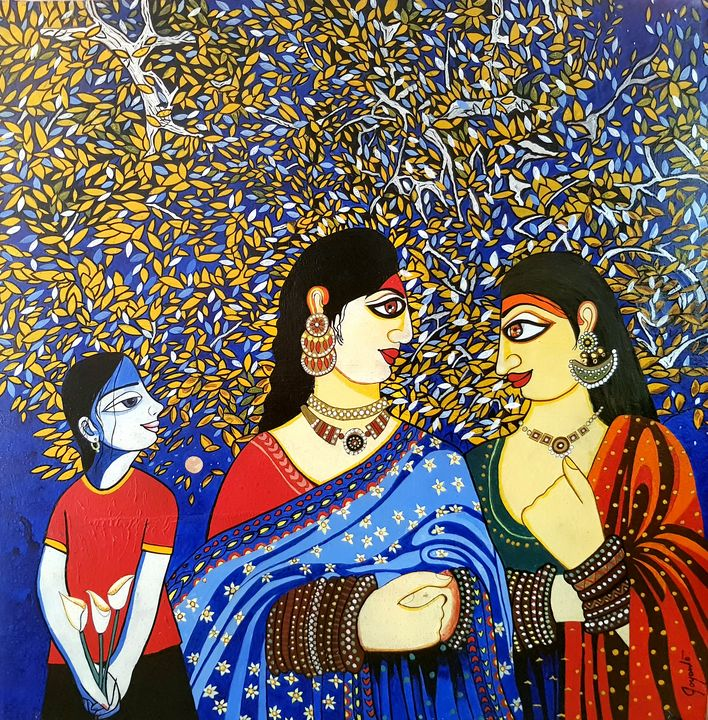 Brahmin Innocence Gossip (iii) - Joyanto Art