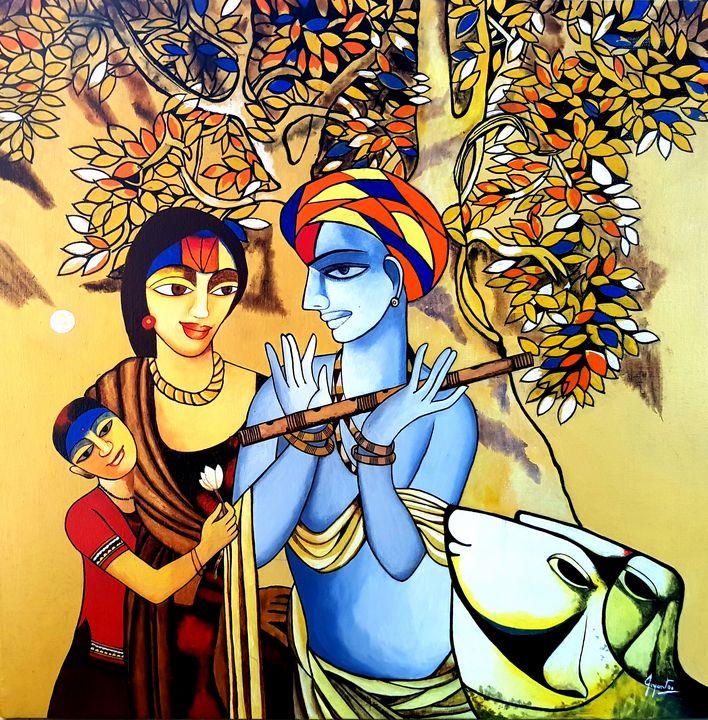 Brahmin Innocence Gossip (iv) - Joyanto Art
