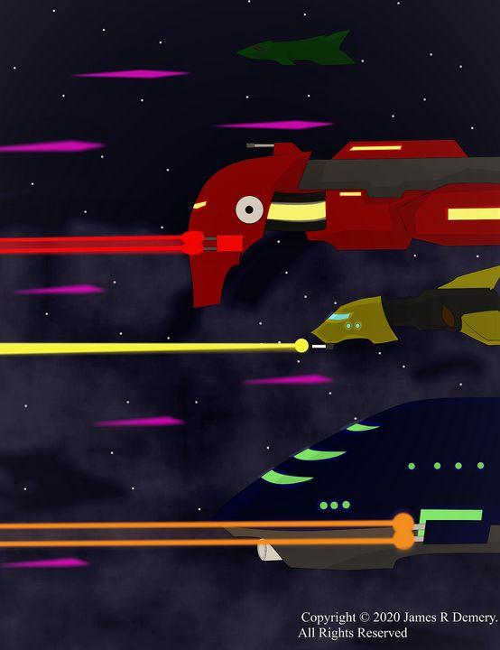 Space Battle. - Aspiring Cartoonist