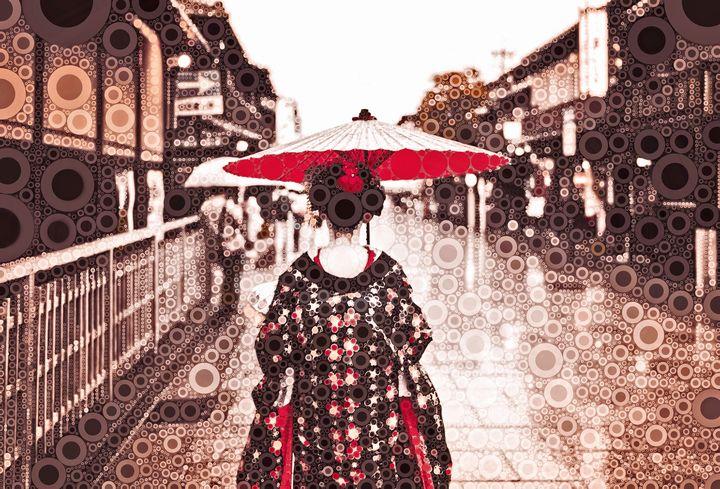 A Maiko in Gion - Susan Maxwell Schmidt Visual Fine Art