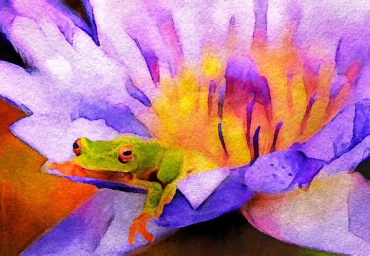 Tree Frog in Repose - Susan Maxwell Schmidt Visual Fine Art
