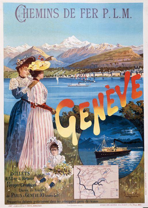 """Affiche PLM : """" Geneve """" - Richard Deen"""