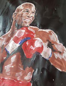 Floyd mayweather jnr painting