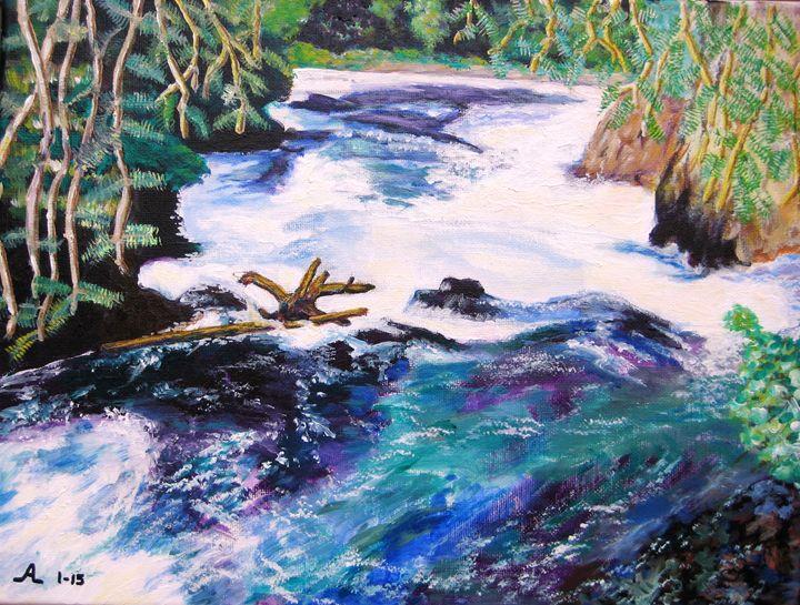 Rassian River Tributary - Creative Artwork