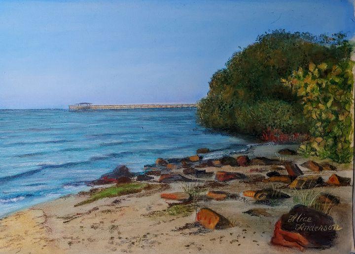 Safety Harbor Shoreline at Dawn - Alice Artist Studio