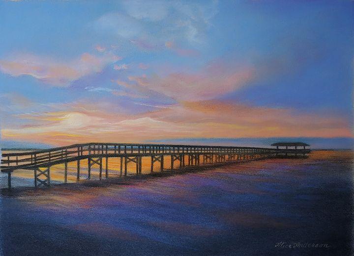 Safety Harbor Pier at Sunrise - Alice Artist Studio