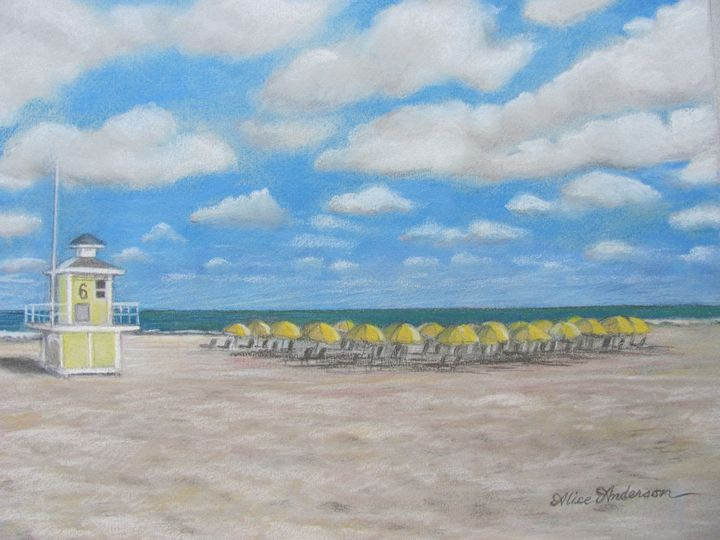 Clearwater Beach Lifeguard Post 6 - Alice Artist Studio