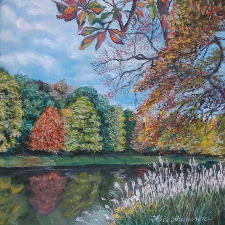 Autumn Reflections in Warsaw - Alice Artist Studio
