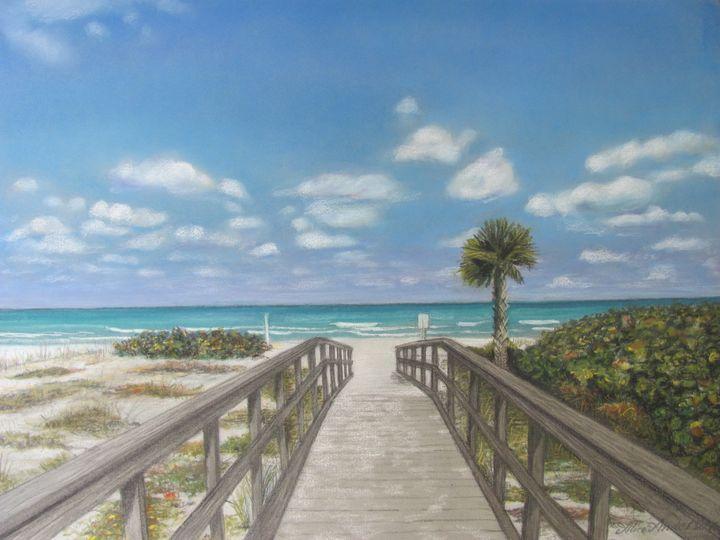 Beach Walkway at Indian Shores - Alice Artist Studio
