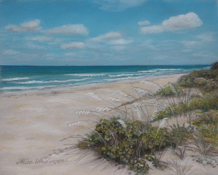 Sea Oats on Honeymoon Island - Alice Artist Studio