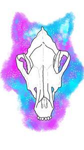 Galaxy Wolf Skull Design