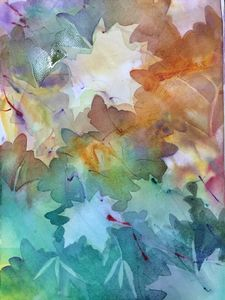 Maple Leaves- Negative Painting