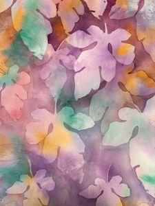 Leaves-Negative Watercolour