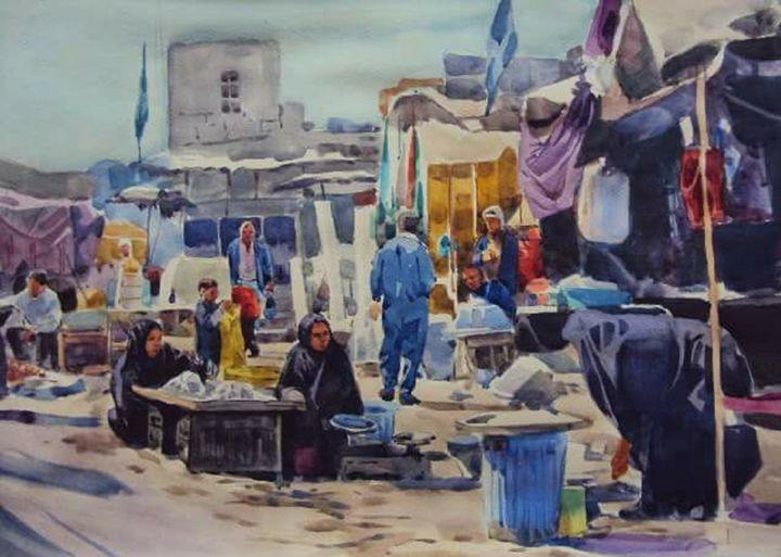 fish market in basrah - Jasim Alfadhel Art