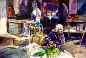 the  popular market in Iraq