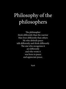 Philosophy of the philosophers