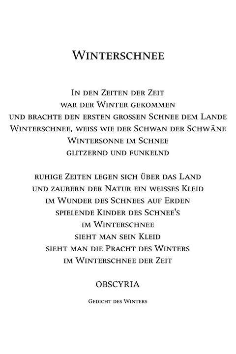 Winterschnee - Obscyria