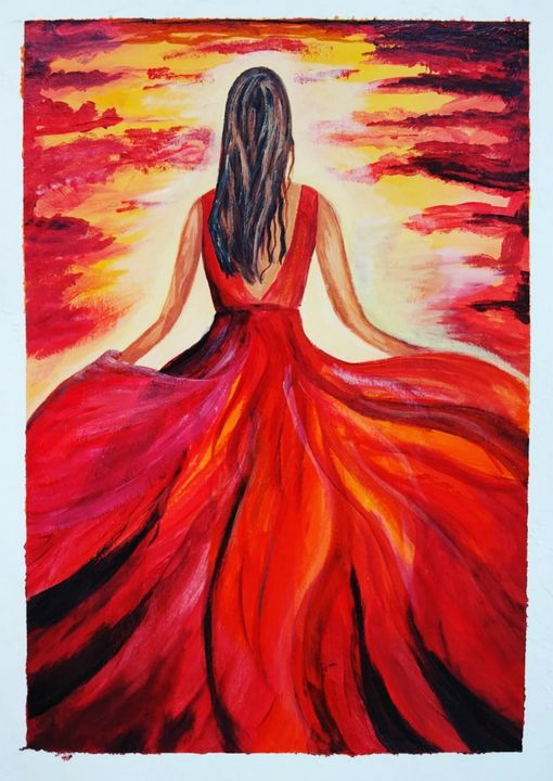 Girl in Red dress - Nextstepcreativity