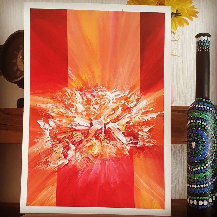 Fire Abstract Art - Nextstepcreativity