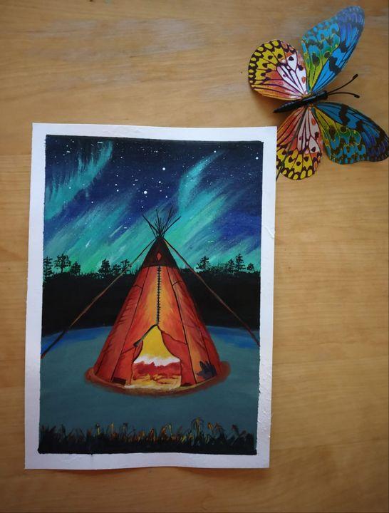 Camping under Northern Lights - Nextstepcreativity