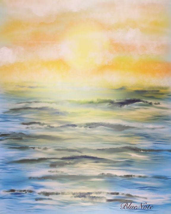 Atmospheric Ocean Sunrise - Blue Note Art