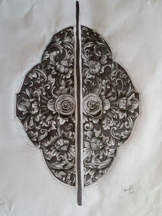 Decorative Door Detail - Jessica's Art