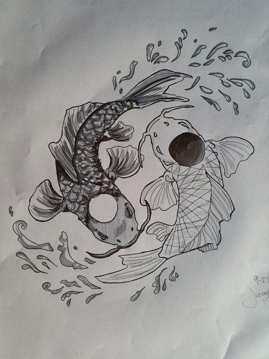 Ying Yang Koi - Jessica's Art