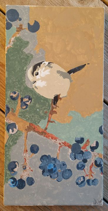 Blueberry Bird - Jessica's Art