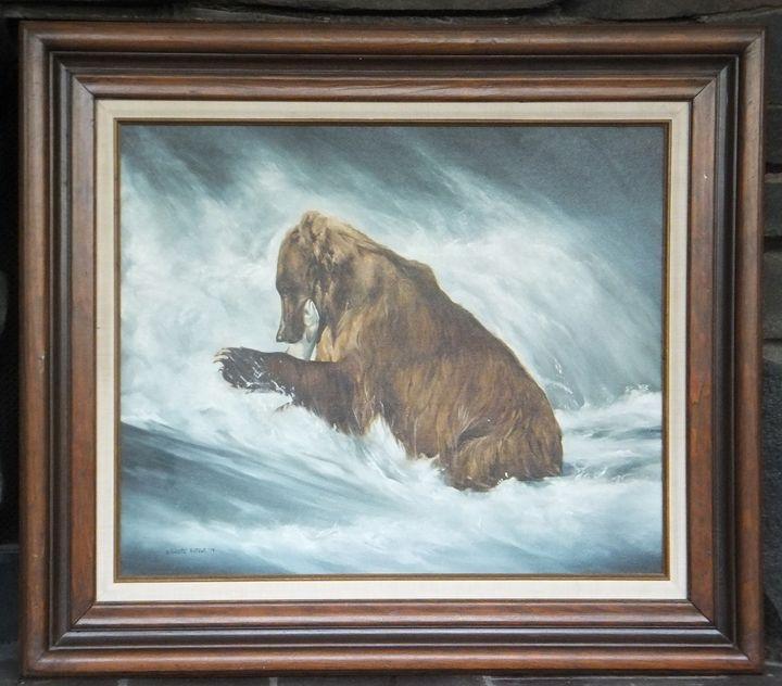 FISHING BEAR by Annette Hartzell - Brandtart