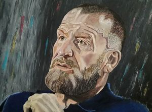 Acrylic Portrait Dorian Yates