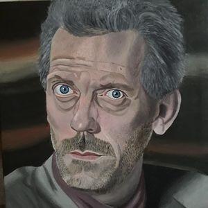 Acrylic Portrait Dr. House