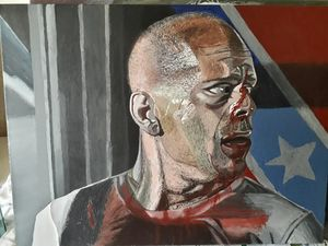 Acrylic Portrait Bruce Willis