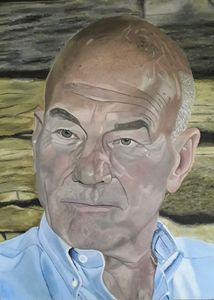 Acrylic Portrait Patrick Stewart