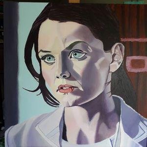 Acrylic portrait Dr. Cameron