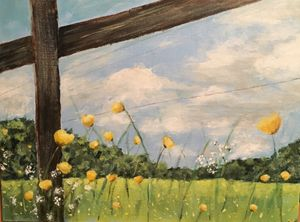Buttercups Acrylic on Canvas