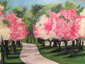 Dogwoods Acrylic on Canvas