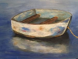 Fishing Boat Acrylic on Canvas