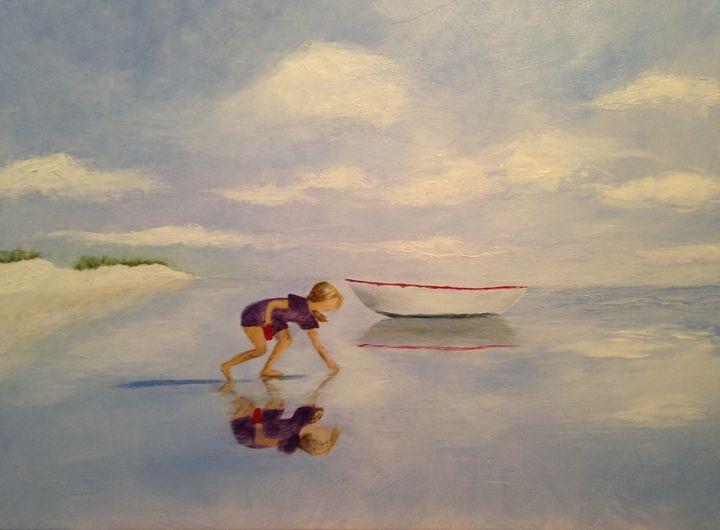 Shelling Acrylic on Canvas - Rosemary Ramsey