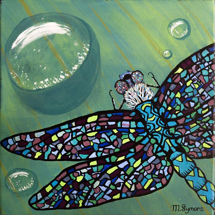 Stained Glass Dragonfly - Melissa Symons