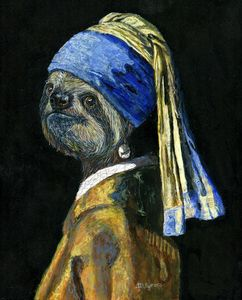 Sloth With A Pearl Earring