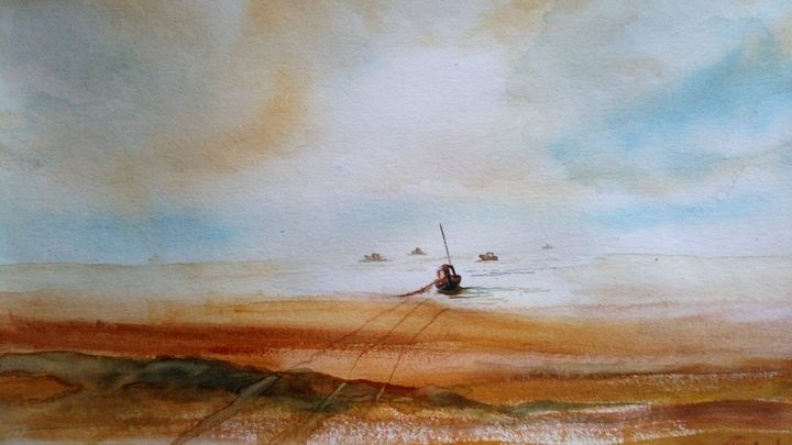 Big sky, little boats - Trevor Partridge