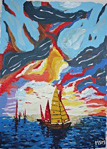 Sails in the sea