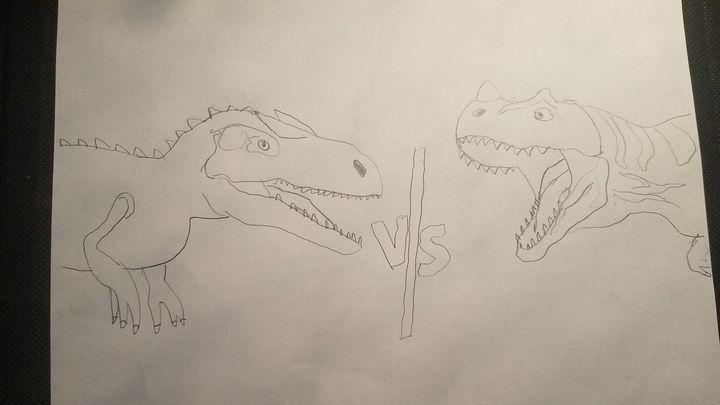 Alosaurus vs Ceratosaurus - Jacob101