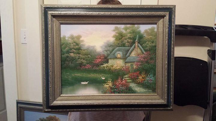 Smaller Martin Oil on Canvas - Oil on Canvas