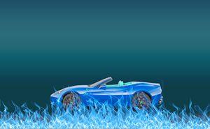 Car Fire Blue