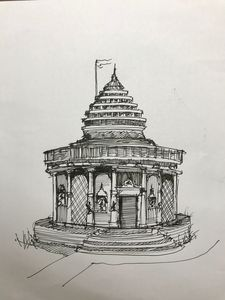 Architectural Indian Temple Design