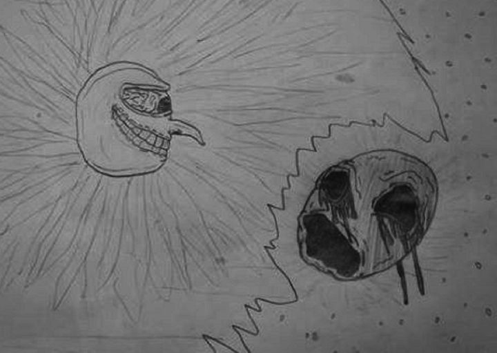 The Sun and The Moon - Drawings