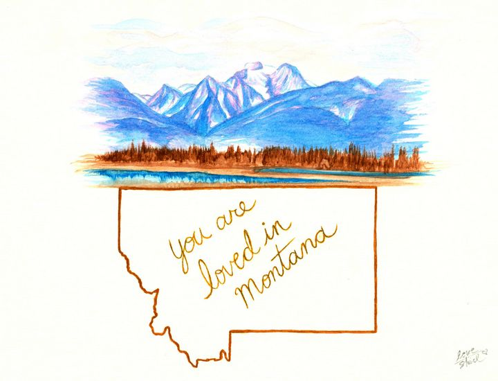 You are loved in Montana - Love_Shirl