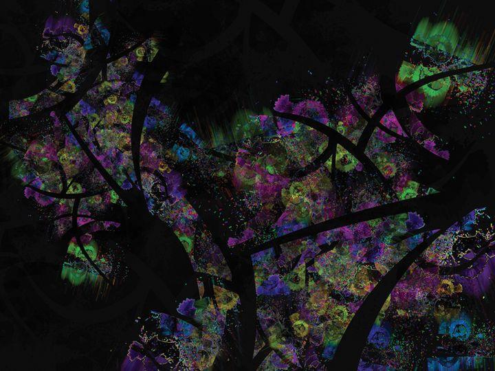 Luxurious Abstract Texture Dark Shir - casualforyou