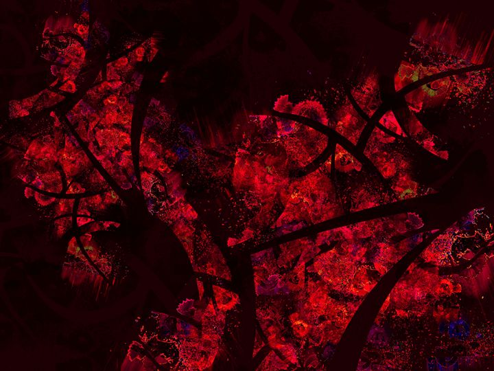 Luxurious Abstract Texture Red Shira - casualforyou